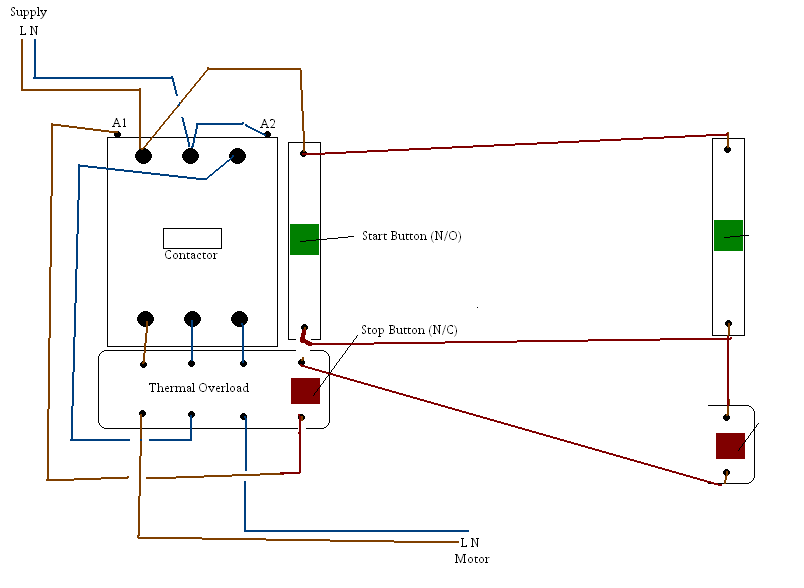 3 Phase Contactor Wiring Diagram Start Stop