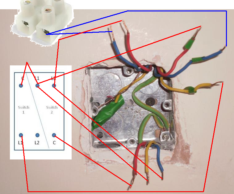 dimmer switch wiring l1 l2 c dimmer image wiring 2 gang intermediate light switch wiring diagram images on dimmer switch wiring l1 l2 c