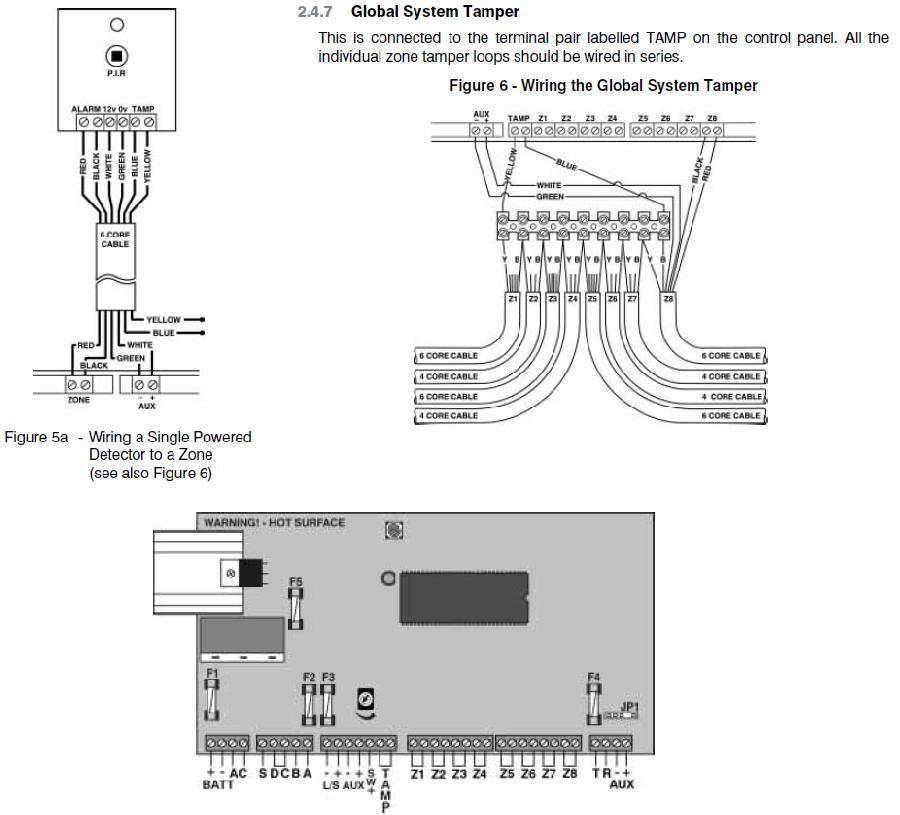 ask the trades - adding additional pir to veritas 8 alarm, Wiring diagram