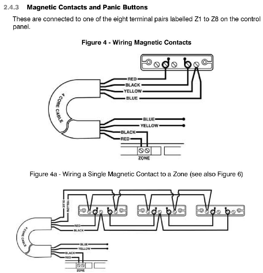 Alarm Door Contacts Wiring