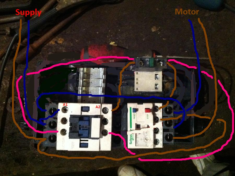 Ask The Trades - Having trouble wiring a switch for a saw bench  Phase Contactor Overload Wiring Diagram on