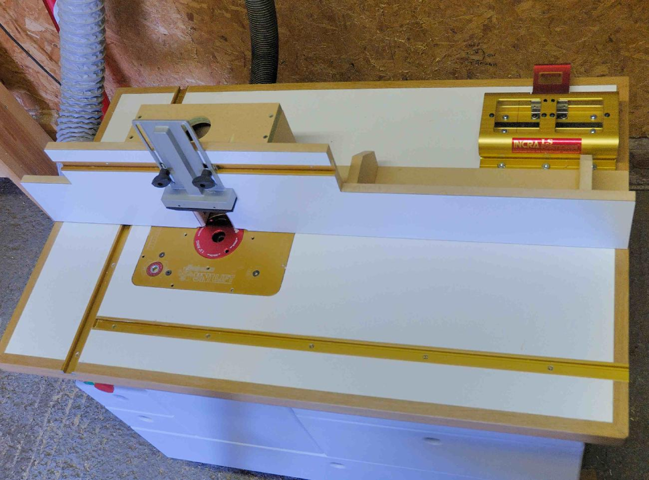 Ask the trades router table the router is fitted in a woodpecker chain driven lift like the incra fence it is accurate to about a 11000 the router has an xtreme extension fitted to greentooth Choice Image